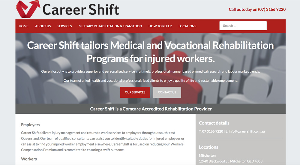 Career Shift old site