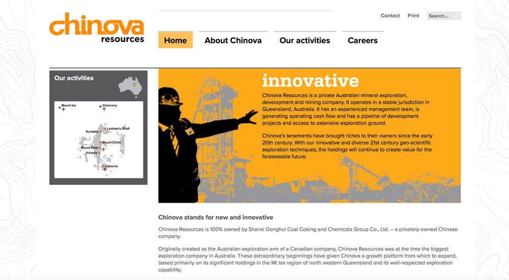 Chinova old site